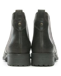 Ugg - Gray Bonham Grey Leather Chelsea Boots - Lyst