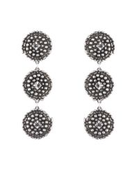 DANNIJO | Metallic Rossi Crystal Drop Earrings | Lyst
