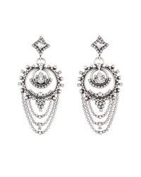 DANNIJO | Metallic Rosalie Crystal Statement Earrings | Lyst