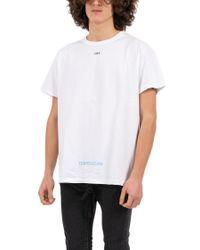 Off-White c/o Virgil Abloh - White 'diag Temperature' T-shirt for Men - Lyst