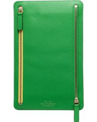 Smythson - Green Panama Currency Case - Lyst