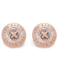 Ted Baker | Metallic Eisley: Enamel Mini Button Earring | Lyst