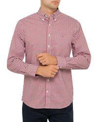 GANT | Red The Poplin Gingham Check Shirt for Men | Lyst
