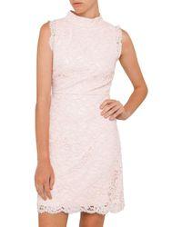 Ted Baker | Pink Latoya Lace Dress | Lyst