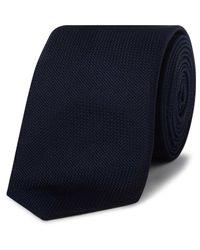 Paul Smith | Blue Text Plain Silk Tie for Men | Lyst