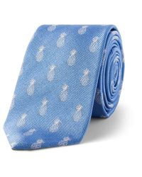 Simon Carter | Blue Pineapple Motif Tie for Men | Lyst