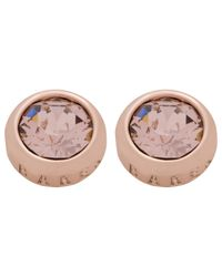 Ted Baker | Pink Sina: Crystal Stud Earring | Lyst