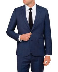 Paul Smith - Blue Wool Shark Wind Check Suit for Men - Lyst