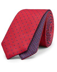 Politix - Purple Lukin Pattern Reversible Tie With Tie Bar for Men - Lyst