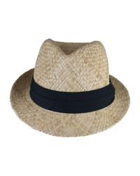 Morgan Taylor | Natural Raffia Trilby With Contrast Trim for Men | Lyst