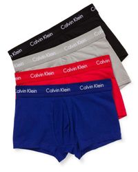 Calvin Klein | Blue Holiday Cotton Stretch Low Rise Trunk 4 Pk for Men | Lyst