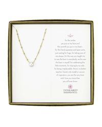 Dogeared | White Pearls Of Love Beaded Chain With Pearl Boxed | Lyst