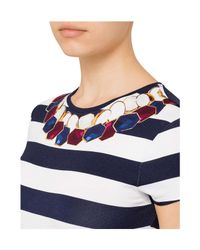 Ted Baker - Blue Rowing Stripe Tee - Lyst