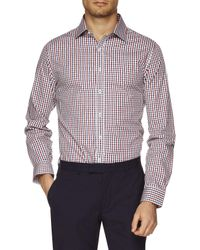 Ben Sherman | Red Ls Gingham Kings Shirt for Men | Lyst
