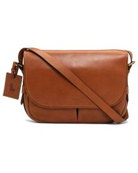 Polo Ralph Lauren | Brown Smooth Leather Messenger Bag for Men | Lyst