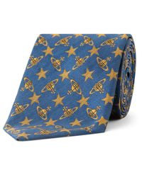 Vivienne Westwood | Blue Orb & Stars Yardage Tie for Men | Lyst