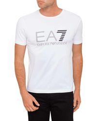 Emporio Armani - White Logo Tee for Men - Lyst