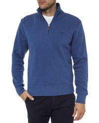 Gant | Blue Sacker Rib Half Zip Collar for Men | Lyst