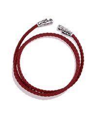 David Yurman - Chevron Triple-wrap Bracelet In Red for Men - Lyst