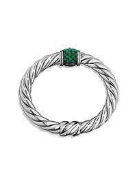 David Yurman - Green Osetra Bracelet With Gemstones - Lyst