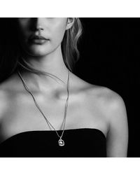 David Yurman - Metallic Albion® Pendant With Hematine And Diamonds, 11mm - Lyst