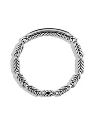 David Yurman - Chevron Id Bracelet With Black Onyx for Men - Lyst