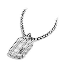 David Yurman - Metallic Pavé Tag With Diamonds for Men - Lyst