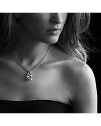 David Yurman - Metallic Cable Wrap Pendant With Champagne Citrine And Diamonds In 18k Gold - Lyst