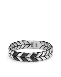 David Yurman - Metallic Chevron Woven Bracelet, 12mm for Men - Lyst