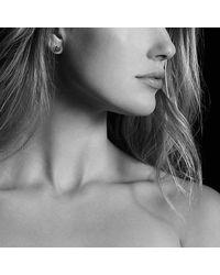 David Yurman - Metallic Petite Pave Earrings With Diamonds In 18k Gold - Lyst