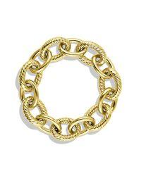 David Yurman - Metallic Extra-large Oval Link Bracelet In 18k Gold - Lyst
