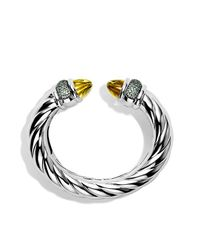 David Yurman - Yellow Waverly Bracelet With Lemon Citrine And Demantoid Garnets - Lyst