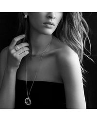 David Yurman - Metallic Crossover Pendant Necklace With Diamonds In 18k Gold - Lyst