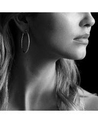 David Yurman - Metallic Cable Classics Large Hoop Earrings - Lyst