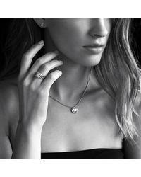 David Yurman - Infinity Earrings With Diamonds In 18k White Gold - Lyst