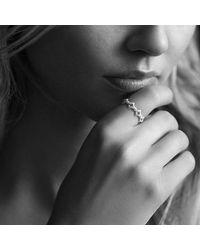 David Yurman - Pink Venetian Quatrefoil Stacking Ring With Diamonds In 18k Rose Gold - Lyst