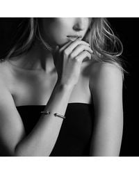David Yurman - Metallic Cable Classics Bracelet With Hematine And Diamonds, 5mm - Lyst