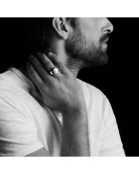 David Yurman - Pink Faceted Metal Signet Ring With 18k Rose Gold for Men - Lyst