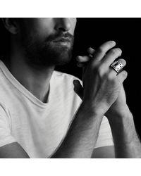 David Yurman - Metallic Frontier Ring With Black Diamonds for Men - Lyst