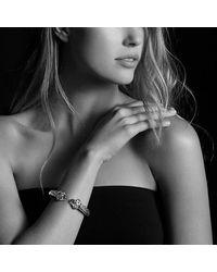 David Yurman - Gray Renaissance Bracelet With Citrine, Peridot, Green Tourmaline, And 14k Gold, 10mm - Lyst