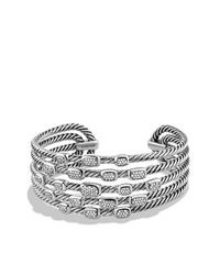 David Yurman - Metallic Confetti Wide Cuff Bracelet With Diamonds - Lyst