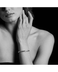 David Yurman - Petite Pavé Mini Loop Bracelet With Black Diamonds - Lyst