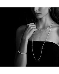 David Yurman - Metallic Crossover Small Hoop Earrings With Diamonds - Lyst