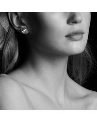 David Yurman - Metallic Sculpted Cable Earrings In 18k Rose Gold - Lyst