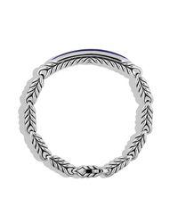 David Yurman - Metallic Chevron Id Bracelet With Lapis Lazuli for Men - Lyst