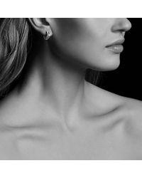 David Yurman - Metallic Labyrinth® Single-loop Earrings With Diamonds - Lyst