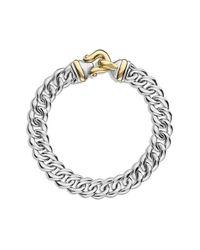 David Yurman - Metallic Buckle Single-row Bracelet With 18k Gold, 10mm - Lyst