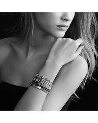 David Yurman | Metallic Petite Pavé Curb Link Love Id Bracelet With Diamonds | Lyst
