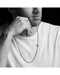 David Yurman - Metallic Pavé Cross Necklace With Diamonds for Men - Lyst