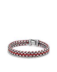 David Yurman - Multicolor Woven Box Chain Bracelet In Red - Lyst